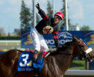Holy Helena after winning the Queen's Plate on July 2 at Woodbine Racetrack. Photo by Michael Burns