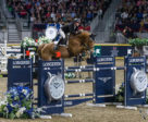 Hardin Towell of the U.S. conquered the $87,000 GroupBy Big Ben Challenge in front of a sold-out crowd on Saturday, November 11, riding Lucifer V to close out international show jumping competition at the Royal Horse Show in Toronto, ON. Photo by Ben Radvanyi Photography